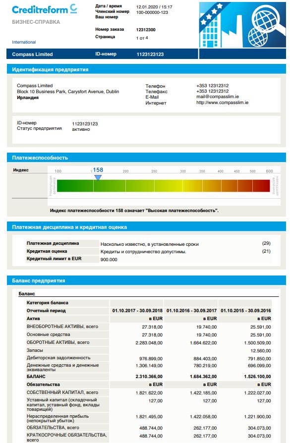 Проверка иностранных компаний в Контур Фокус