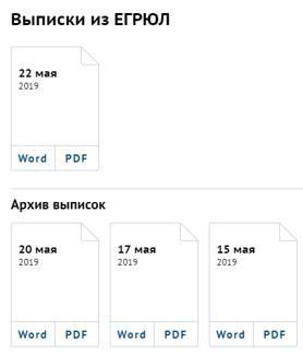 Выписка ЕГРЮЛ в СПАРК.Интерфакс