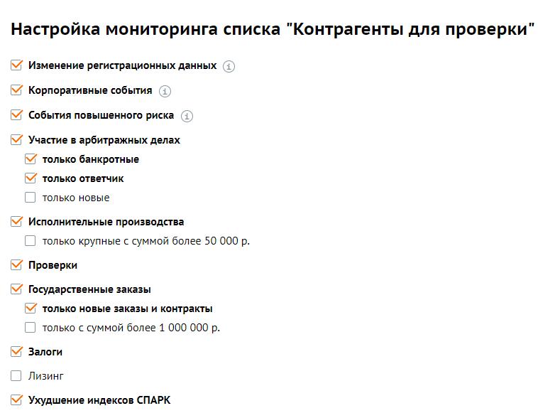 Мониторинг в СПАРК.Интерфакс