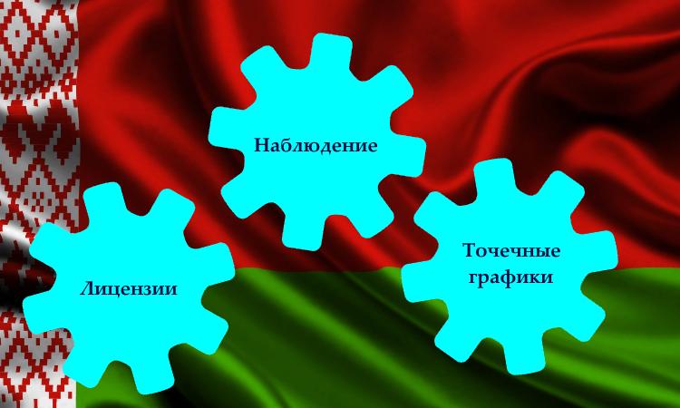 Беларусь точечные графики лицензии наблюдение