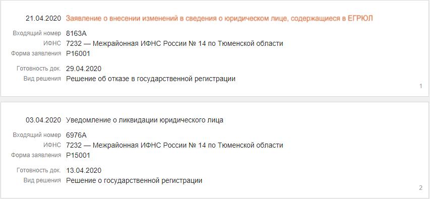 Внесение изменений в ЕГРЮЛ/ЕГРИП