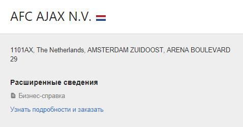 карточка нидерландской компании