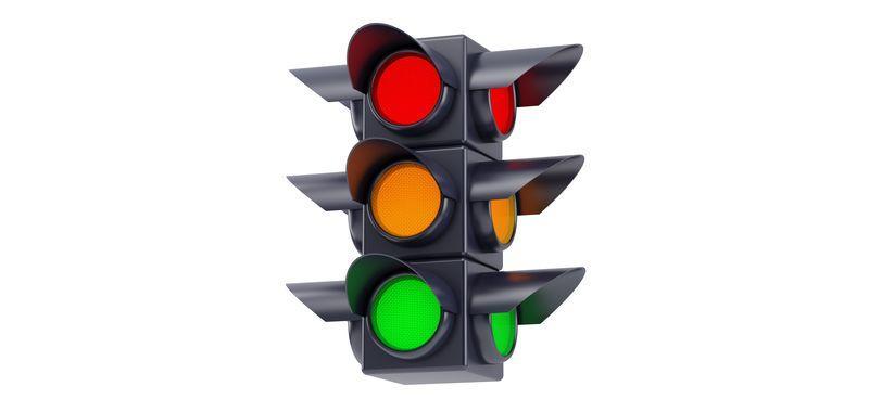 Цветные маркеры: светофор